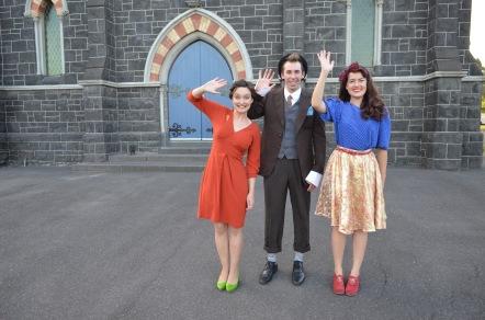 Belinda Campbell, Mark Salvestro, Sarah Clarke